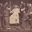 Pope Pius IX with attendants