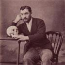 Man with skull
