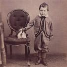 Small boy with rabbit